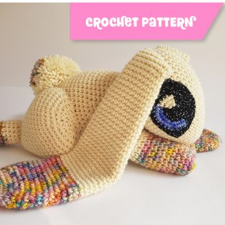 Jupiter The Rabbit | CROCHET PATTERN. Weighted merino therapy toy by Projectarian