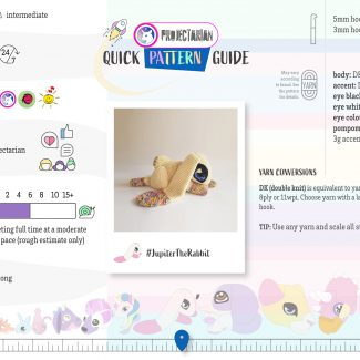 Quick Pattern Guide | Jupiter the Rabbit by Projectarian