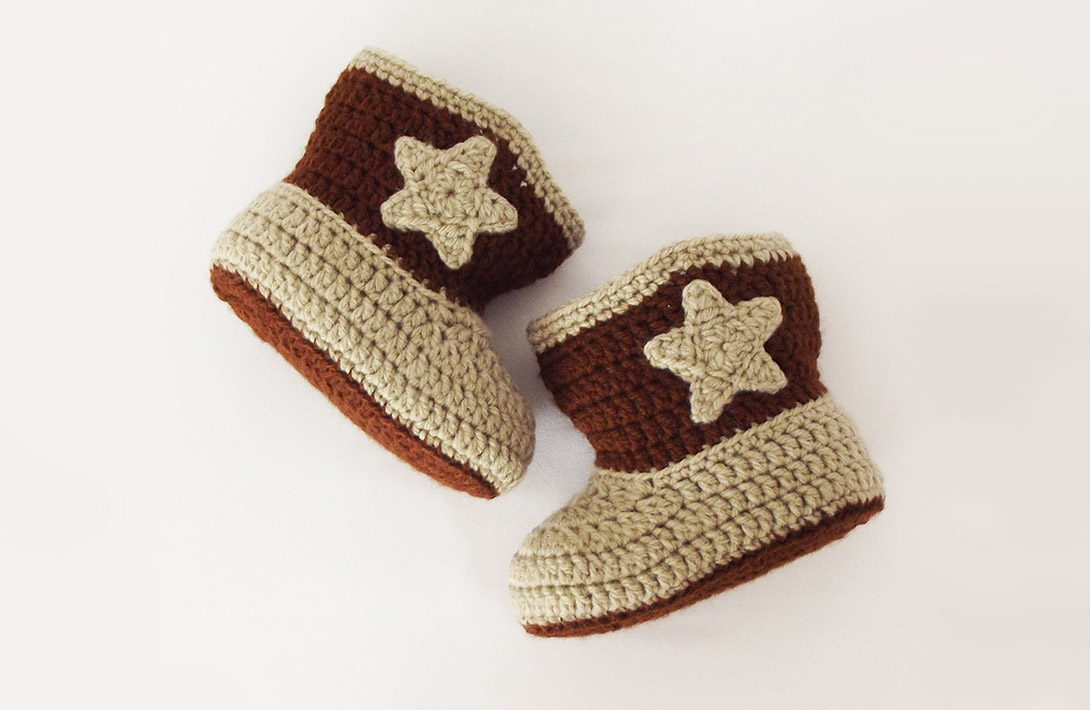 Project 003 Cowboy Boots Free Crochet Pattern