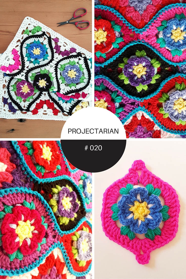 Project 020 Moroccan Garden Free Crochet Pattern Diagrams For Stitch Patterns Pinterest A Floral Tile With Halves And Quarter Pieces