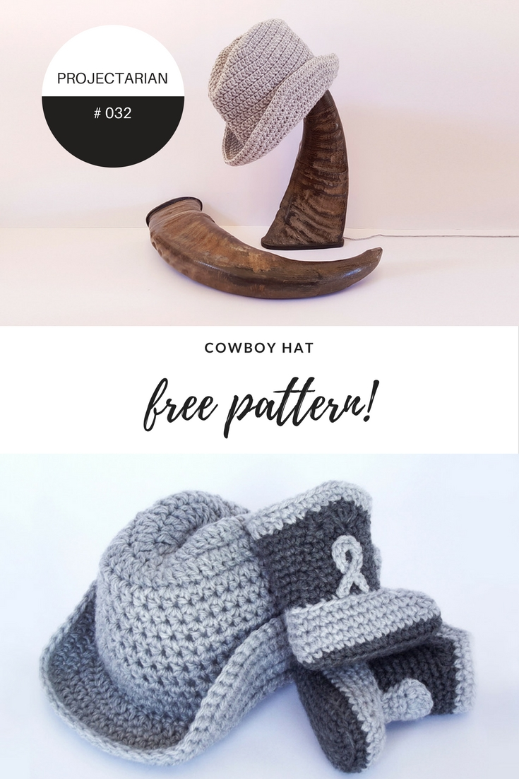 Cowboy Hat by Projectarian | Free Crochet Pattern