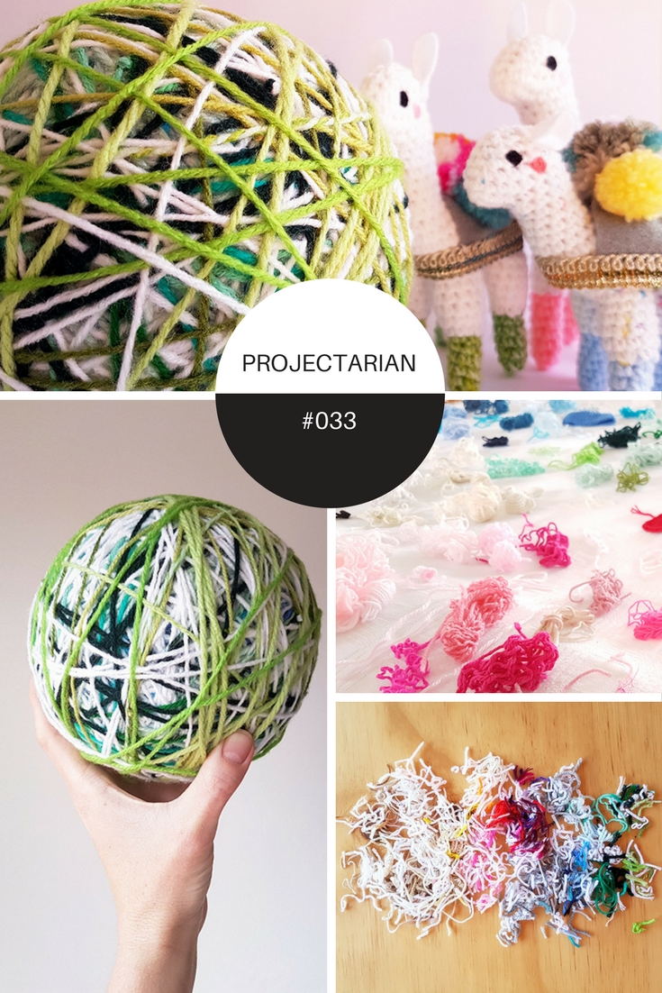 Project #033: Frankenyarn | DIY Stash-buster yarn ball by Projectarian