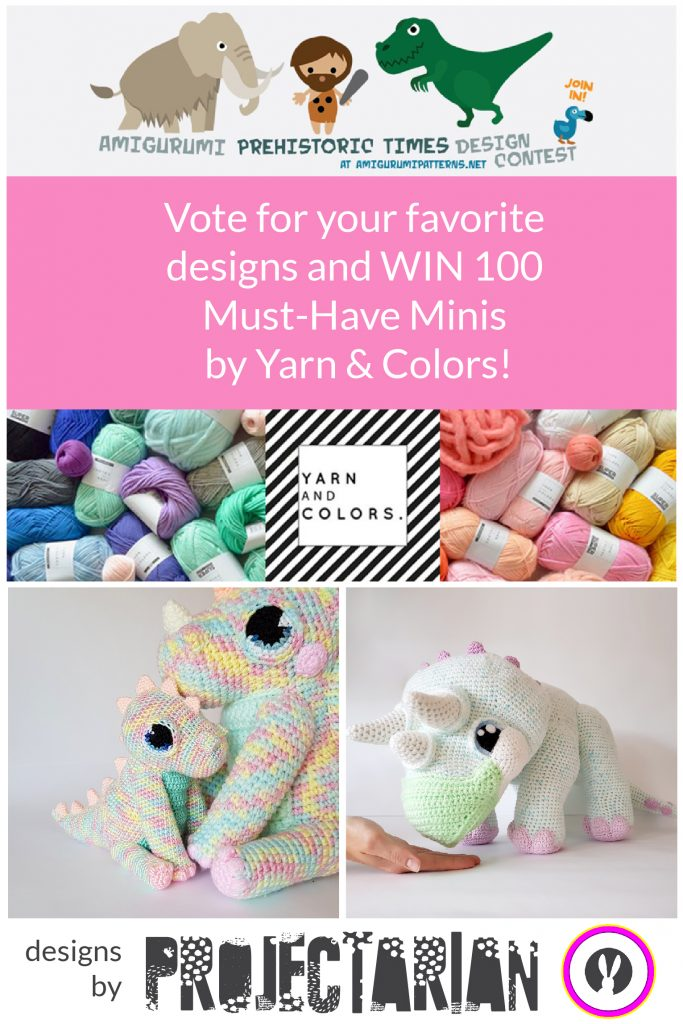 VOTE & WIN! In the amigurumipatterns.net design contest. Design by Projectarian.
